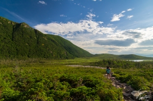 The Gros Morne Mountain Trail gradually ascends from the parking lot to the base of Gros Morne Mountain.  From here, you have two options: continue up the mountain or hike back to Ferry Gulch.  We chose the latter, which became a very rocky, uneven trail with a moderate ascent.  The views were nothing short of spectacular.