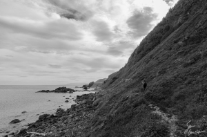 The Green Gardens Trail offers beautiful scenic views as the trail winds along steep coastal cliffs.