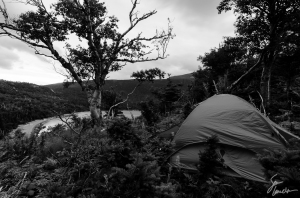 Our ridge-line campsite kept us out of the wind while offering welcomed seclusion.